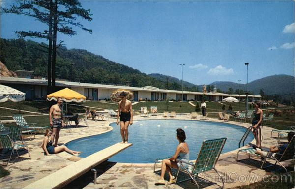 Pool Area at Howard Johnson's Motor Lodge and Restaurant Asheville North Carolina