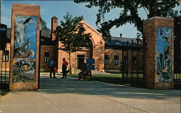 Entrance and Main Building at Zoo Erie Pennsylvania