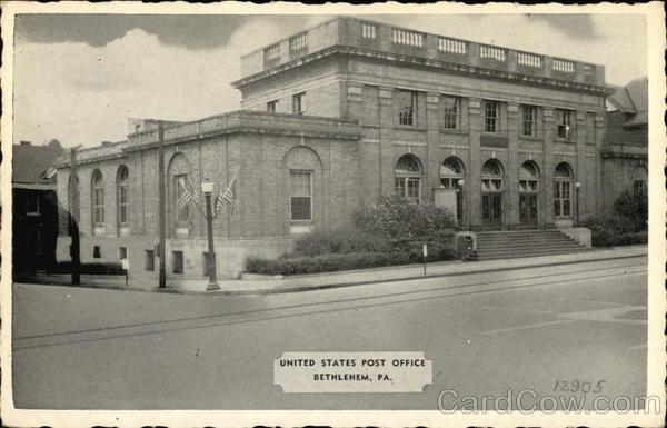 United States Post Office Bethlehem Pennsylvania