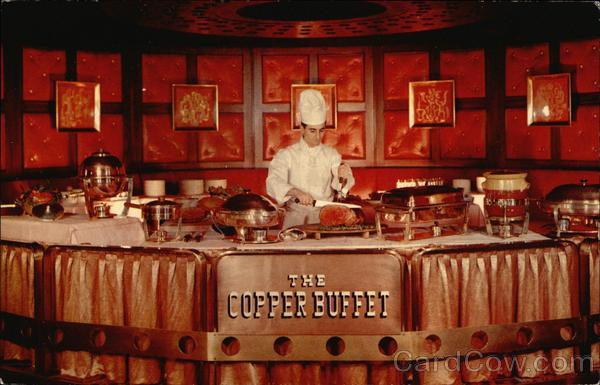 The Copper Buffet, Hotel Statler Buffalo New York