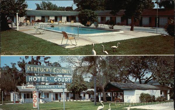 Kentucky Colonel Hotel Court Bradenton Florida