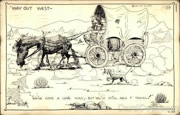 Way Out West Hal Empie Cowboy Western
