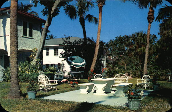 The Patio at Twin Palms Inn Palm Beach Florida