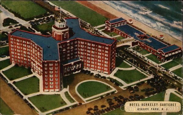 Aerial View of Hotel Berkeley-Carteret Asbury Park New Jersey