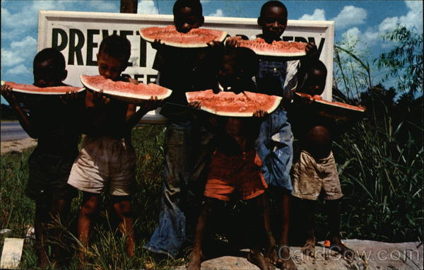 Watermelon Time Down South Black Americana