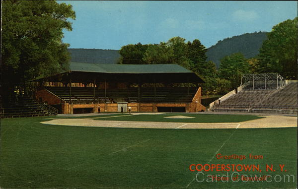 Greetings from Cooperstown, N. Y. Home of Baseball New York