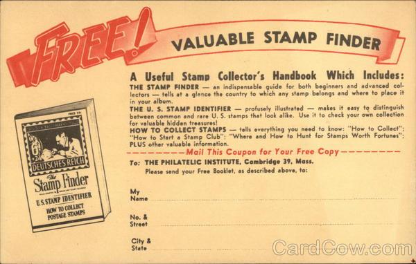 Free! Valuable Stamp Finder Cambridge Massachusetts