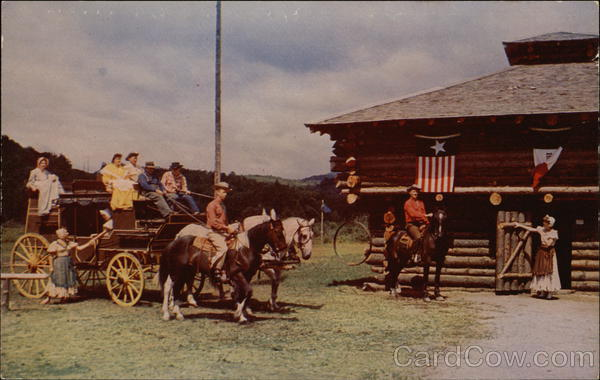 frontier town  n y  schroon lake  ny postcard