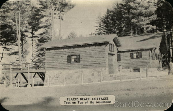 Placid Beach Cottages, Tops on Top of the Mountains Lake Placid New York