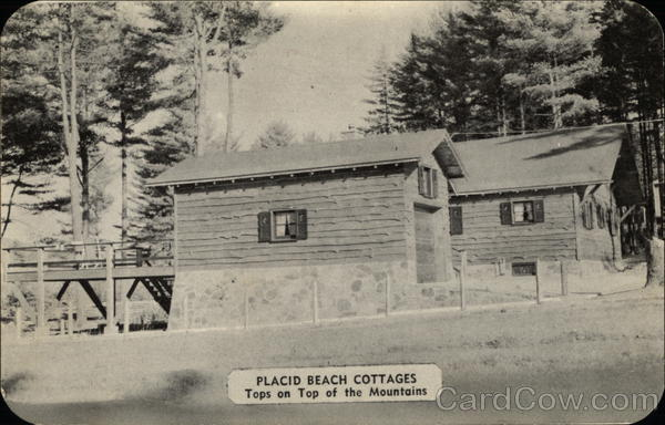 Placid Beach Cottages Lake Placed New York