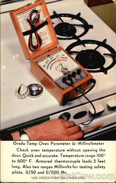 Gradu-Temp Oven Pyrometer & Millivoltmeter Advertising