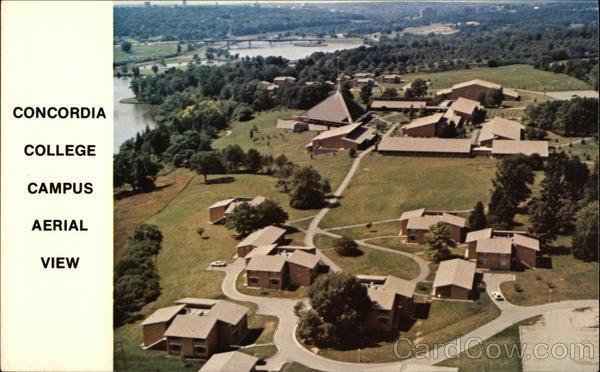 Concordia College Campus Aerial View Ann Arbor Michigan