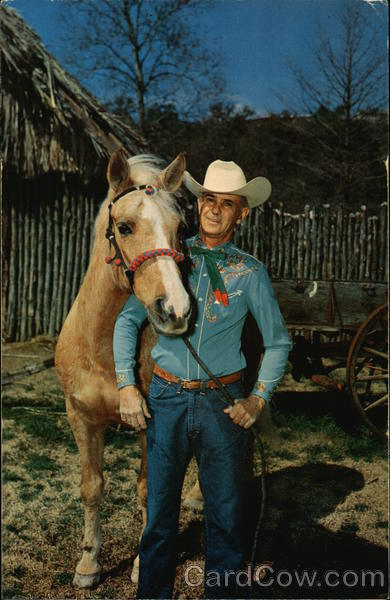 Cowboy and Trick Horse at Aquarena San Marcos Texas