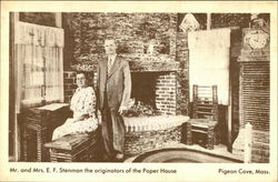 Mr. and Mrs. E.F. Stenman the originators of the Paper House