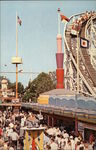 Palisades Amusement Park - Midway & Cyclone Roller Coaster