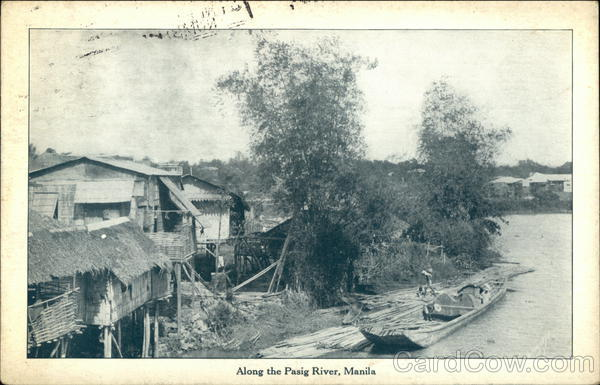 Along the Pasig River Manila Philippines Southeast Asia