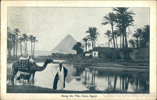 Along the Nile Cairo Egypt Africa