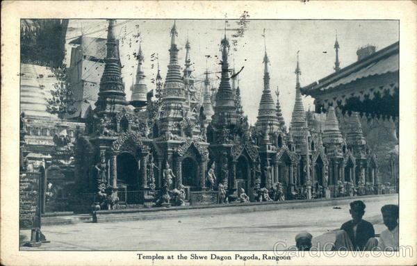 Temples at Shwe Dragon Pagoda, Rangoon Yangon Myanmar