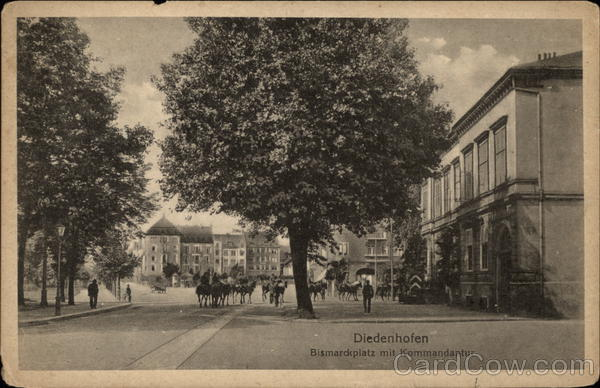 Bismarckplatz mit Kommandantur Thionville France