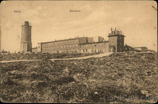 Brocken Tower and Hotel - Harz Mountains Schierke Germany