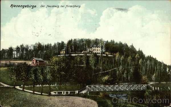 Riesengebirge. Der Hausberg bei Hirschberg Germany