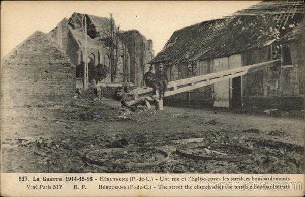 La Guerre 1914-15-16 Hebuterne France