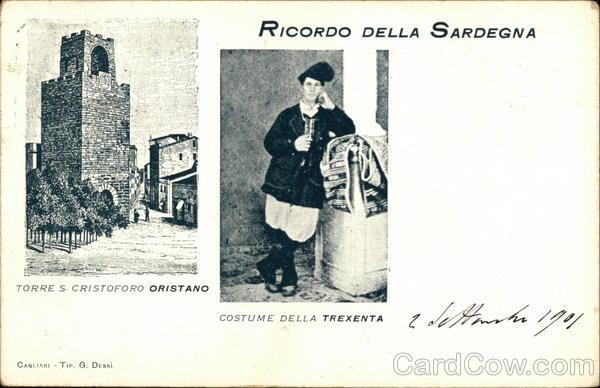 Torre S. Cristoforo and Costume of Trexenta, Sardinia Oristano Italy
