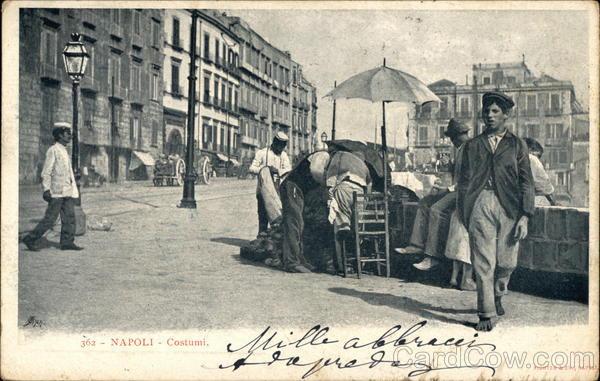 Street Scene Naples Italy