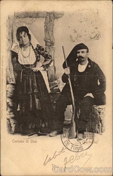 Traditional Costume of Ossi, Sardinia Italy