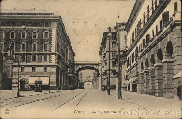 Genova via XX Settembre Genoa Italy