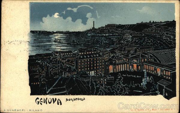 Panorama View Genoa Italy