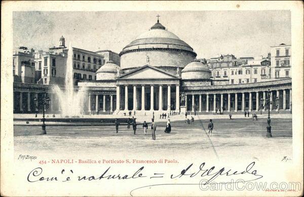 Basilica e Porticato San Francesco di Paola Naples Italy