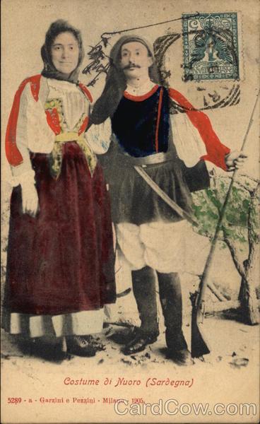 Traditional Costume of Nuoro, Sardinia Italy