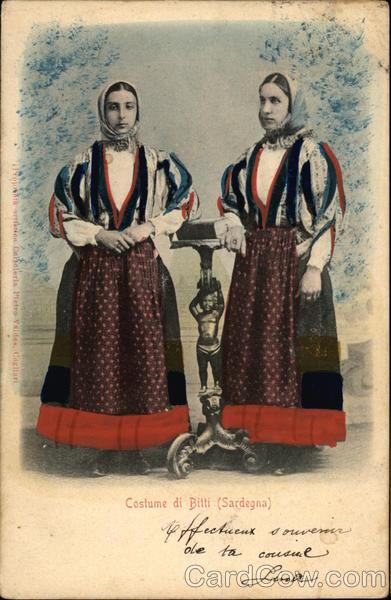 Costume di Billi (Sardegna) Bitti Italy