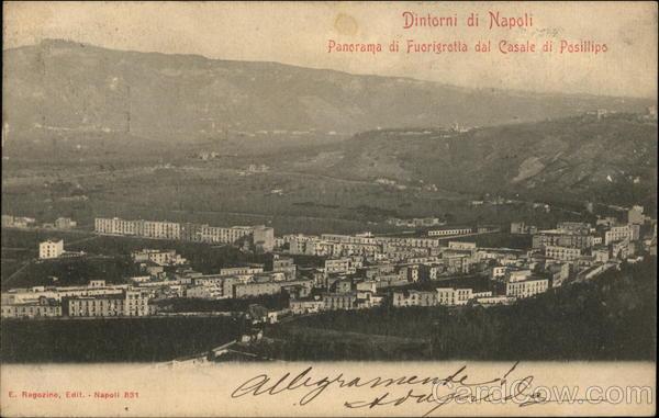 Fuorigrotta and Posillipo Naples Italy