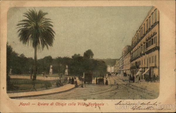 Riviera di Chiaja colla Villa Nazionale Naples Italy