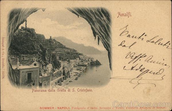 Panorama dalla Grotta di S. Cristofano Amalfi Italy
