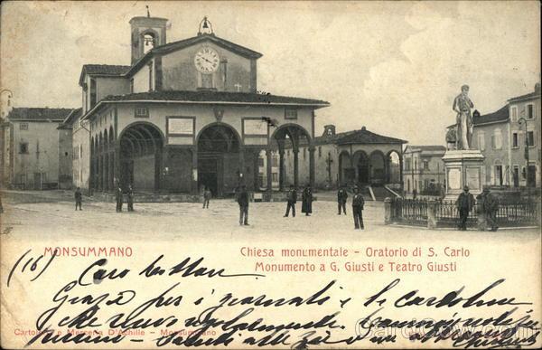 Statue and Theater of Giuseppe Giusti Monsummano Italy