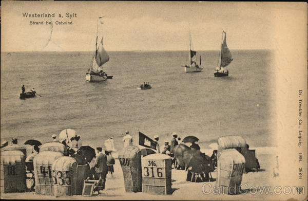 Beach and Sail Boats Westerland Germany