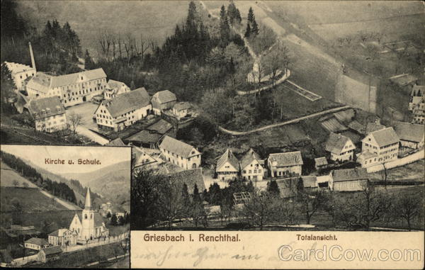 View of Town Greisbach Germany