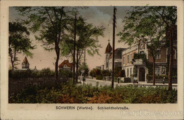 SCHWERIN (Warthe) Schlachthofstrasse Germany