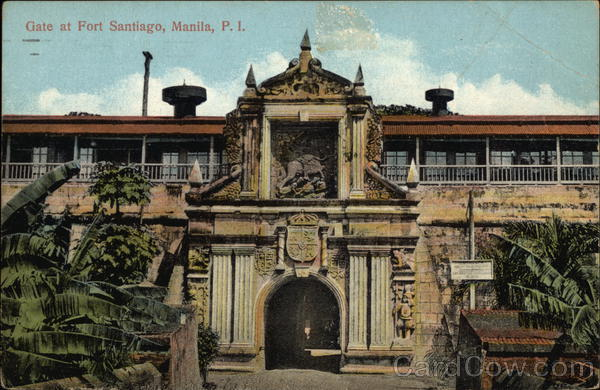 Gate at Fort Santiago Manila Philippines Southeast Asia