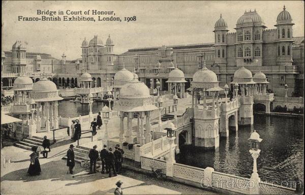 Bridge in Court of Honor, Franco-British Exhibition 1908 London United Kingdom