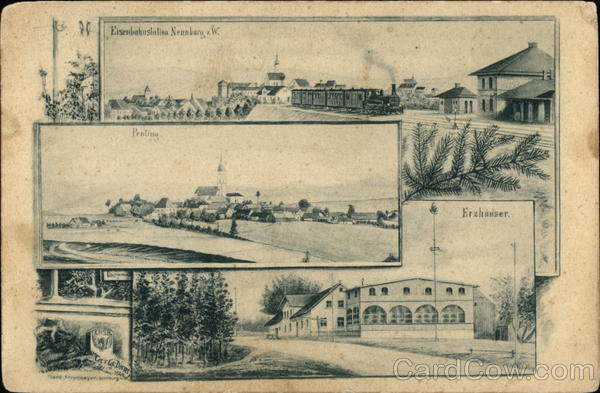 Eisenbahnstation Neunburg Germany