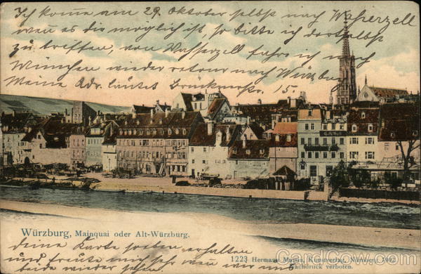 Mainquai oder Alt-Wurzburg Germany