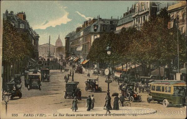 La Rue Royale prise vers la Place de la Concorde Paris France