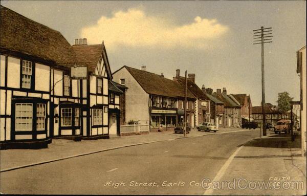 High Street Earls Colne England
