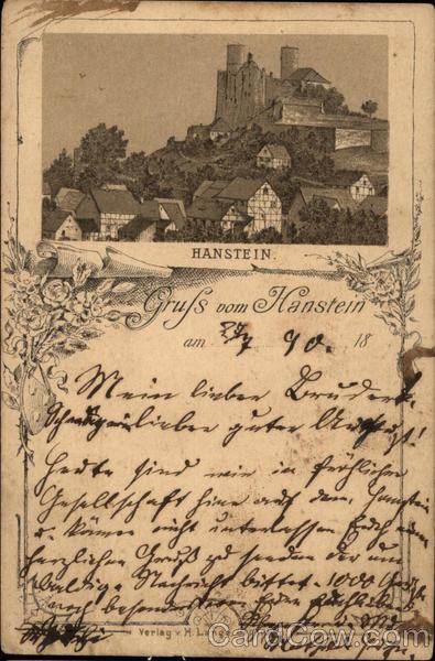 Town and Hanstein Castle Bornhagen Germany