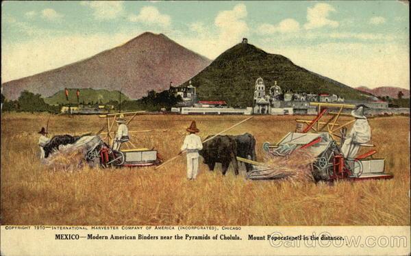 Mexico - Modern American Binders near the Pyramids of Cholula