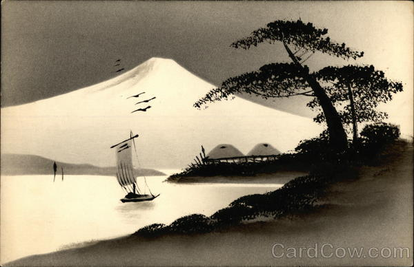 Mt Fuji - Lacquered Art Japan